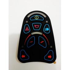 Накладка пульта инвалидной коляски VR2 (8 кнопок)