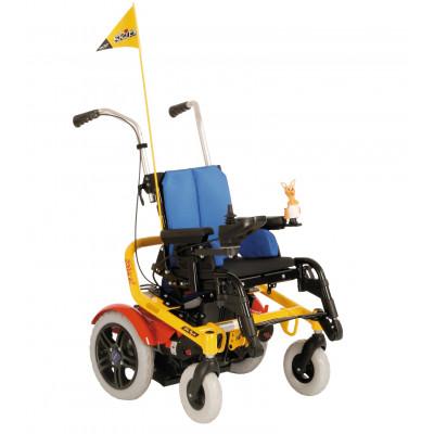 Детская инвалидная коляска с электроприводом Скиппи (с электрорегулировкой высоты и угла наклона сиденья)