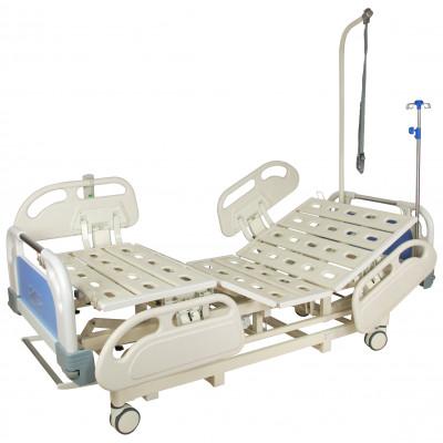 Кровать электрическая Med-Mos DB-3 (5 функций) (МЕ-4019Н-00) с выдвижным ложементом и ростоматом CPR+аккумулятор с ростоматом