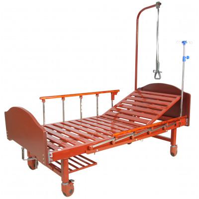 Кровать механическая (1 функция) Med-Mos E-17B (ММ-1024Д-00) ЛДСП