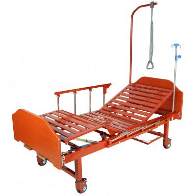 Медицинская кровать Med-Mos Е-8 (MM-2024Н-Д00) (2 функции) ЛДСП с полкой и обеденным столиком