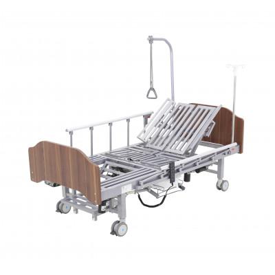 Кровать электрическая Med-Mos YG-3 (МЕ-5228Н-11) с боковым переворачиванием, туалетным устройством и функцией «кардиокресло» Гибридный привод возможность управлять секциями без электроэнергии!