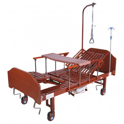 Кровать механическая Med-Mos YG-5 (ММ-5124Н-00) с боковым переворачиванием, туалетным устройством и функцией «кардиокресло»