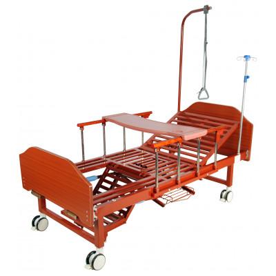 Кровать механическая Med-Mos YG-6 (MM-2124Н-12) с туалетным устройством и функцией «кардиокресло»