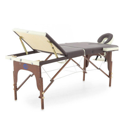 Массажный стол складной деревянный Med-Mos JF-AY01 3-х секционный (темная рама)