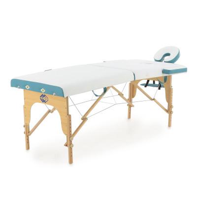 Массажный стол складной деревянный Med-Mos JF-AY01 2-х секционный (светлая рама)