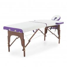 Массажный стол складной деревянный Med-Mos JF-AY01 2-х секционный (темная рама)