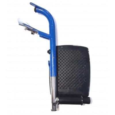 Подножка металлическая для инвалидной коляски синяя